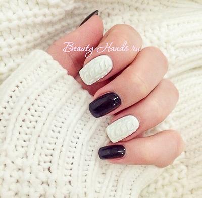 Бархатный песок на ногтях. новогодний дизайн ногтей