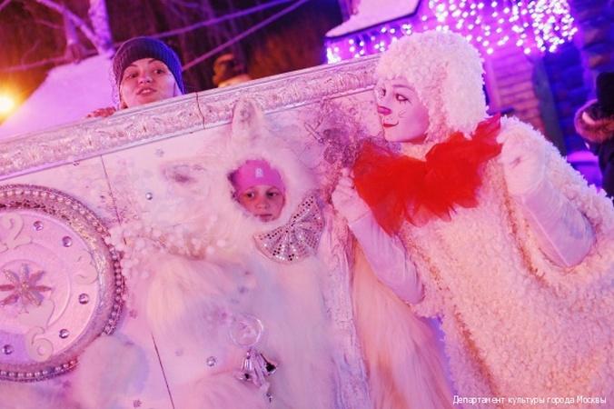 Парк Красная Пресня в Москве на рождество
