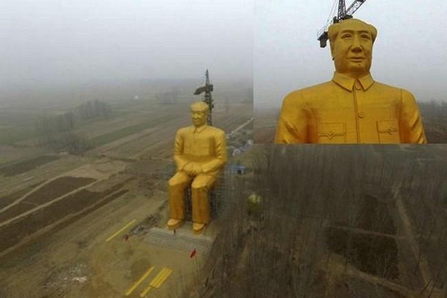 Статуя Мао Цзэдуна. Деревня Суньин провинции Хэнань.