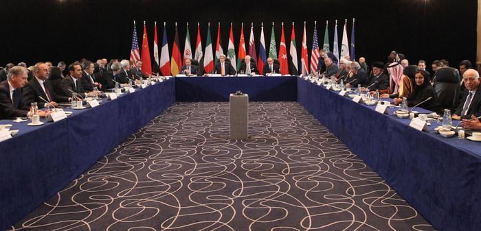 Международная группа сирийской поддержки проводит встречу в Мюнхене для дальнейшего обсуждения мирного урегулирования войны в Сирии. Фото: Alexandra Beier — Pool/Getty Images