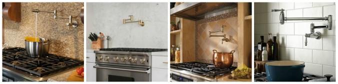 Кран-наполнитель, установленный над плитой. Фото: Eieihome.com