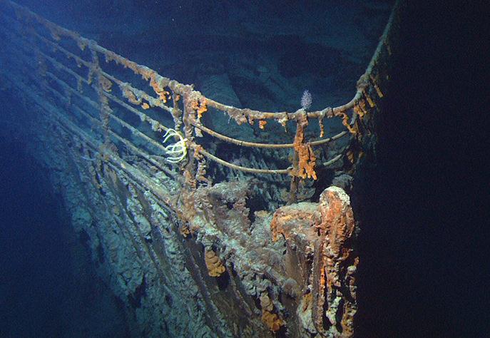 «Титаник»  на дне океана. Фото: NOAA