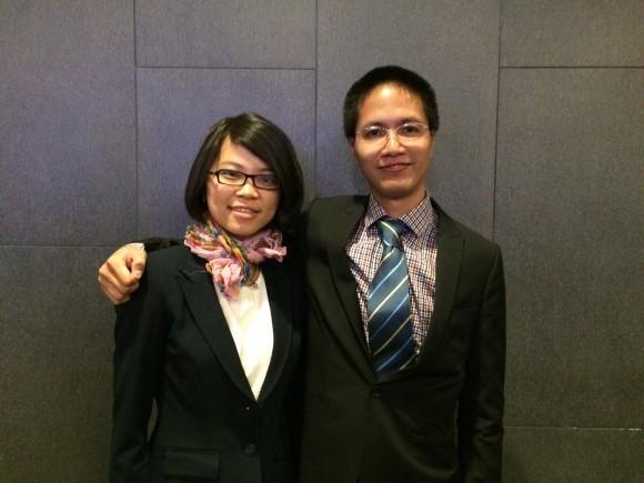 Сун Нгуйен и Тао Тан Нгуйен после конференции по обмену опытом в Нью-Йорке 15 мая. Фото: Juliet Song/Epoch Times