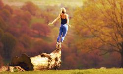 женщина, полет, психология