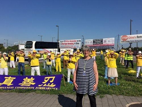Джули Уорд, депутат Европарламента от Соединённого Королевства Великобритании и Северной Ирландии. Фото: Minghui.org