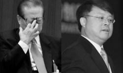 Цзян Цзэминь (слева) и Цзян Мяньхэн