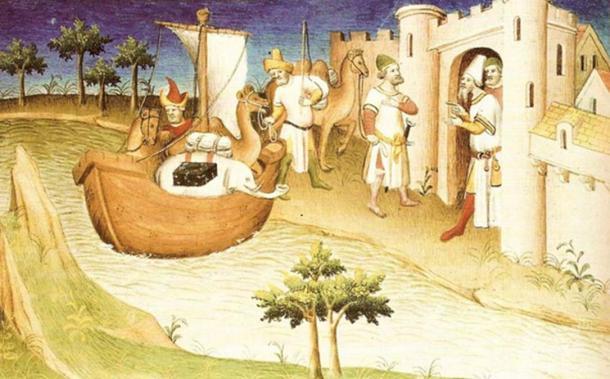 Миниатюра из книги «Книга чудес света», опубликованная при жизни Марко Поло. Фото: Wikimedia Commons