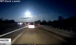 метеорит, свет, мичиган