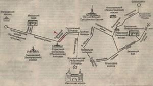 Схема движения трамвая. Фото из семейного архива