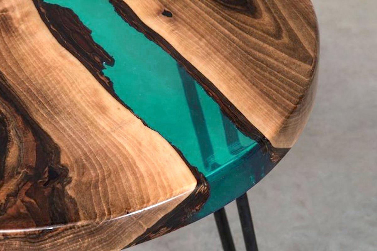 transparent turquoise resine epoxy