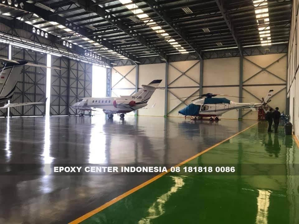 epoxy lantai hanggar pesawat