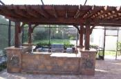 Outdoor Kitchen with Shade Cover