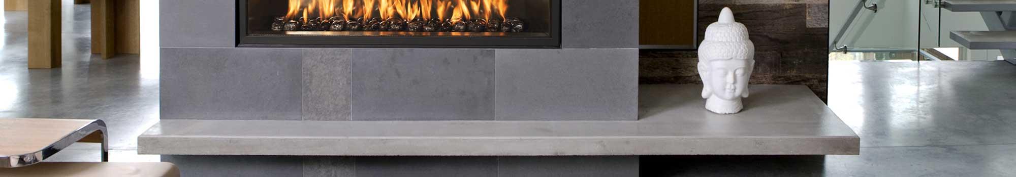 Designer Concrete Fireplace