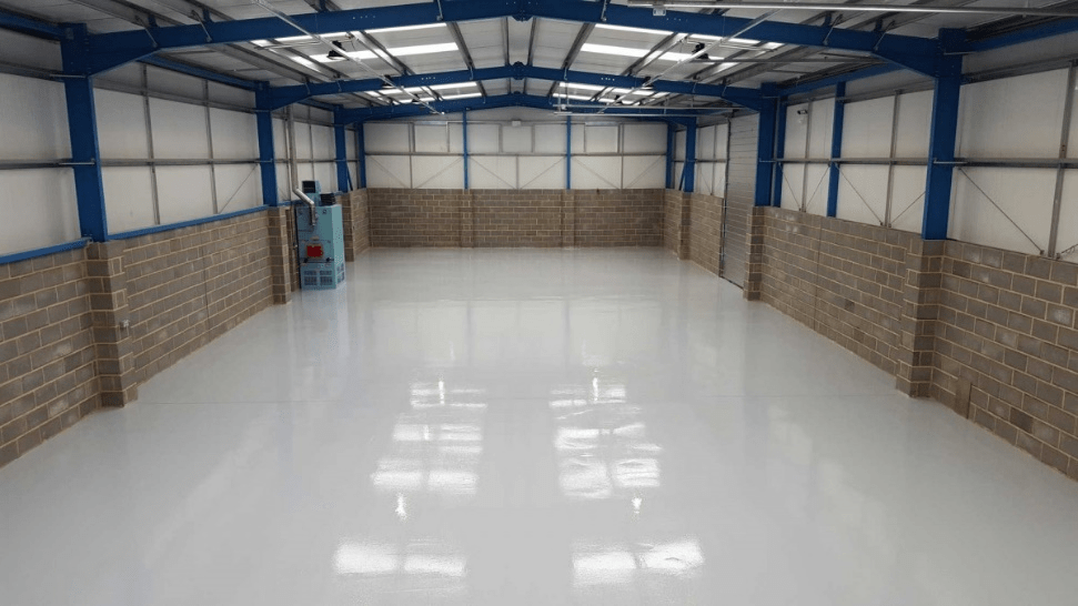 A warehouse with epoxy floor installation in NJ