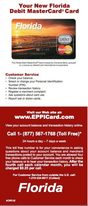 """florida eppicard customer service"""