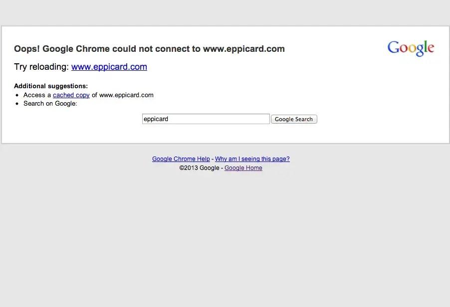 """eppicard website is down"""