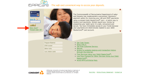 Create PA EPPICard online account