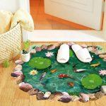 3D Goldfish Lotus Sticker self-Adhesive