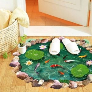 3D Goldfish Lotus Sticker self-Adhesive