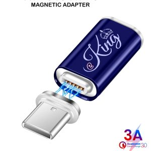 EKING Magnetic Type C Female to Type C USB Male Adapter