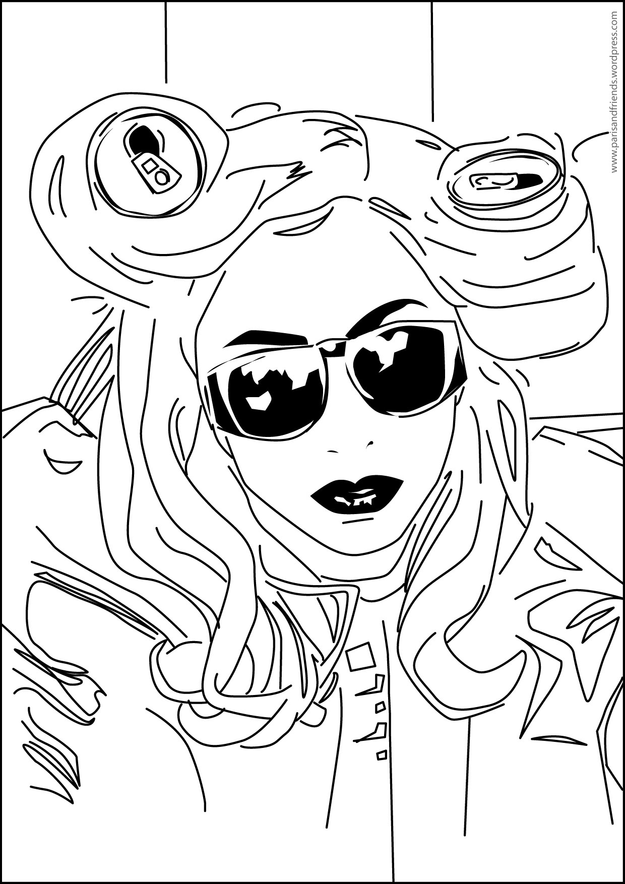 Album Lady Gaga And Aluminium Can Free Printable Coloring Pages For Kids Colouring Pages