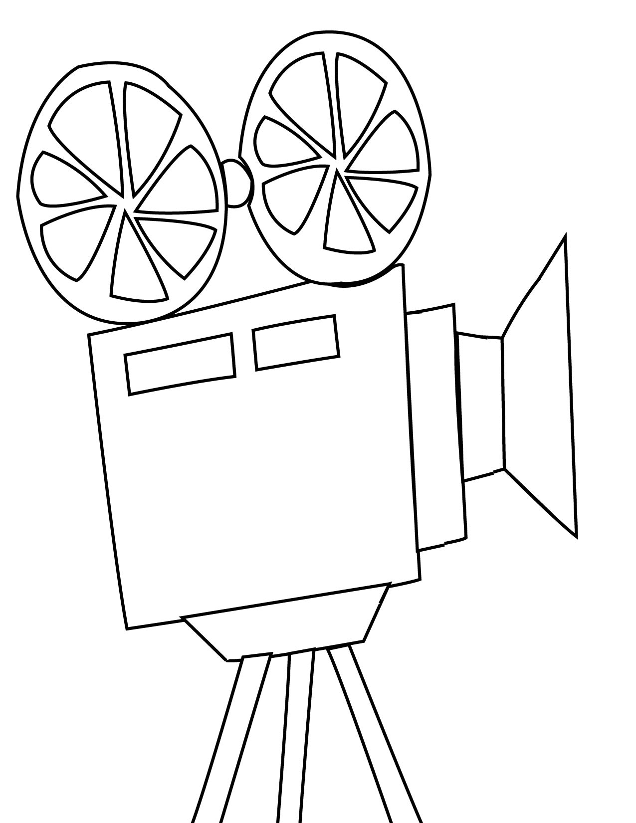 Camera Movies Coloring Pages