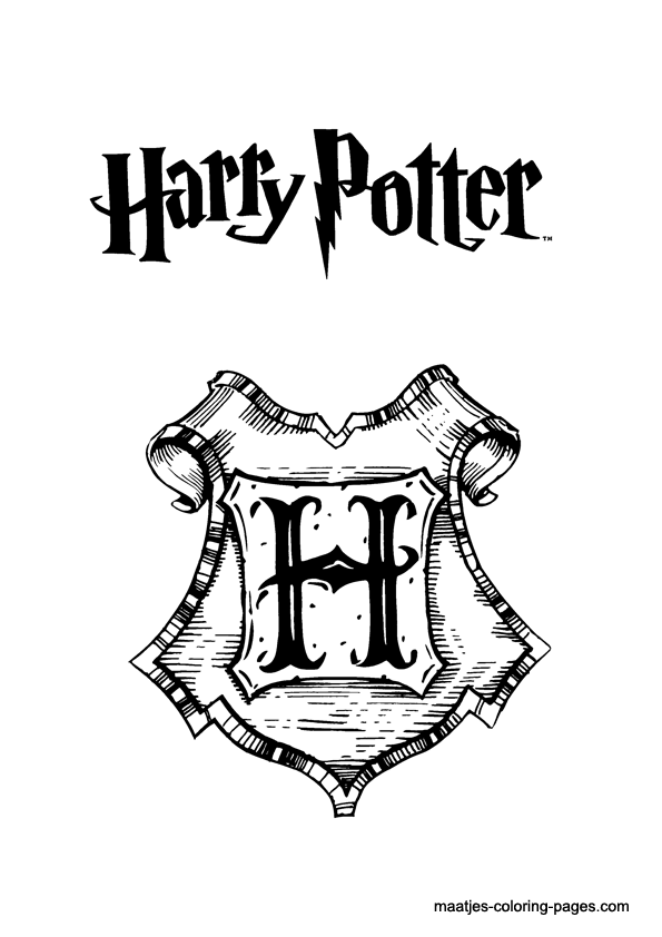 Sign Harry Potter Coloring Pages Color Online Free