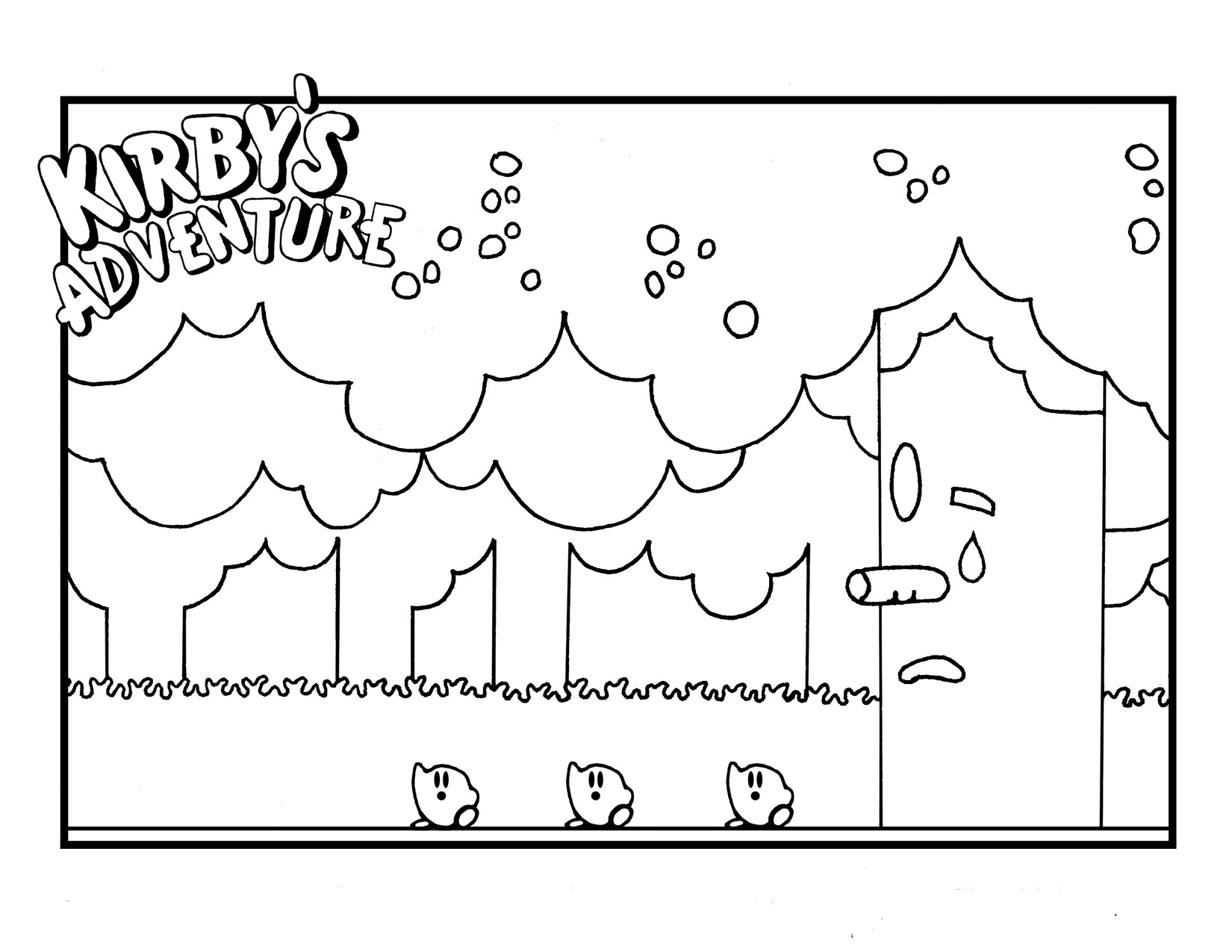 Adventure Kirby Coloring Pages Free Printable Coloring Pages For