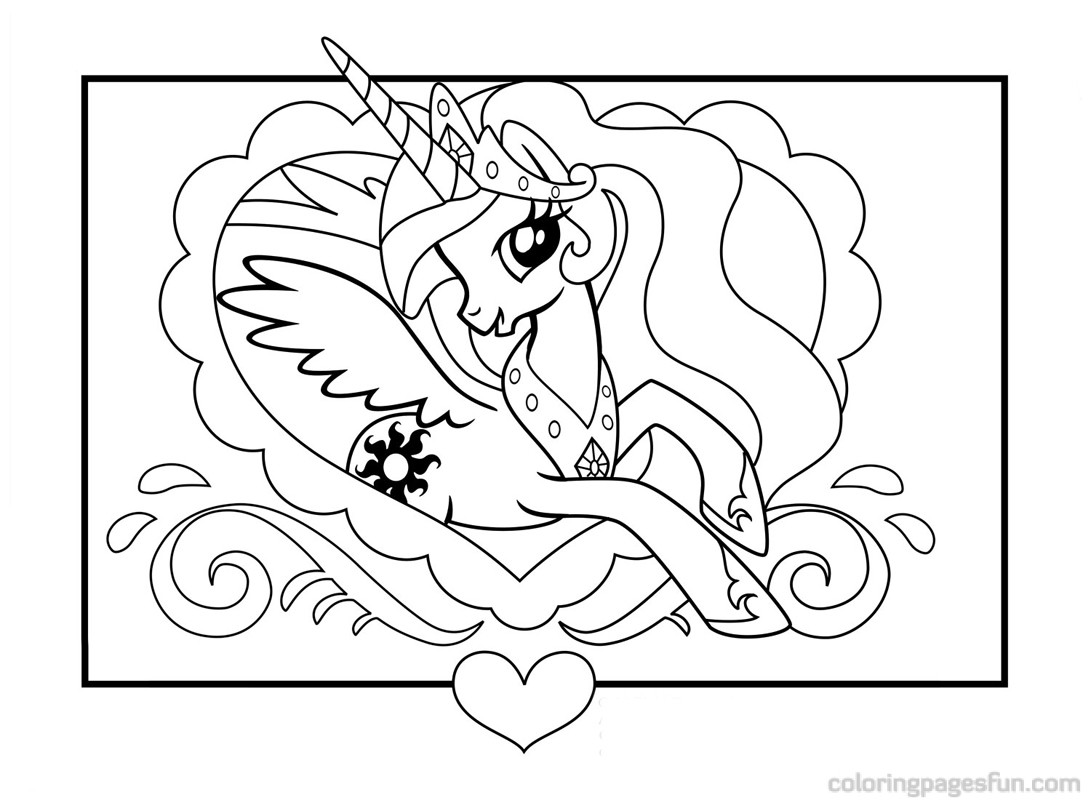 My Little Pony Coloring Pages Cute Pony Girl Free Printable