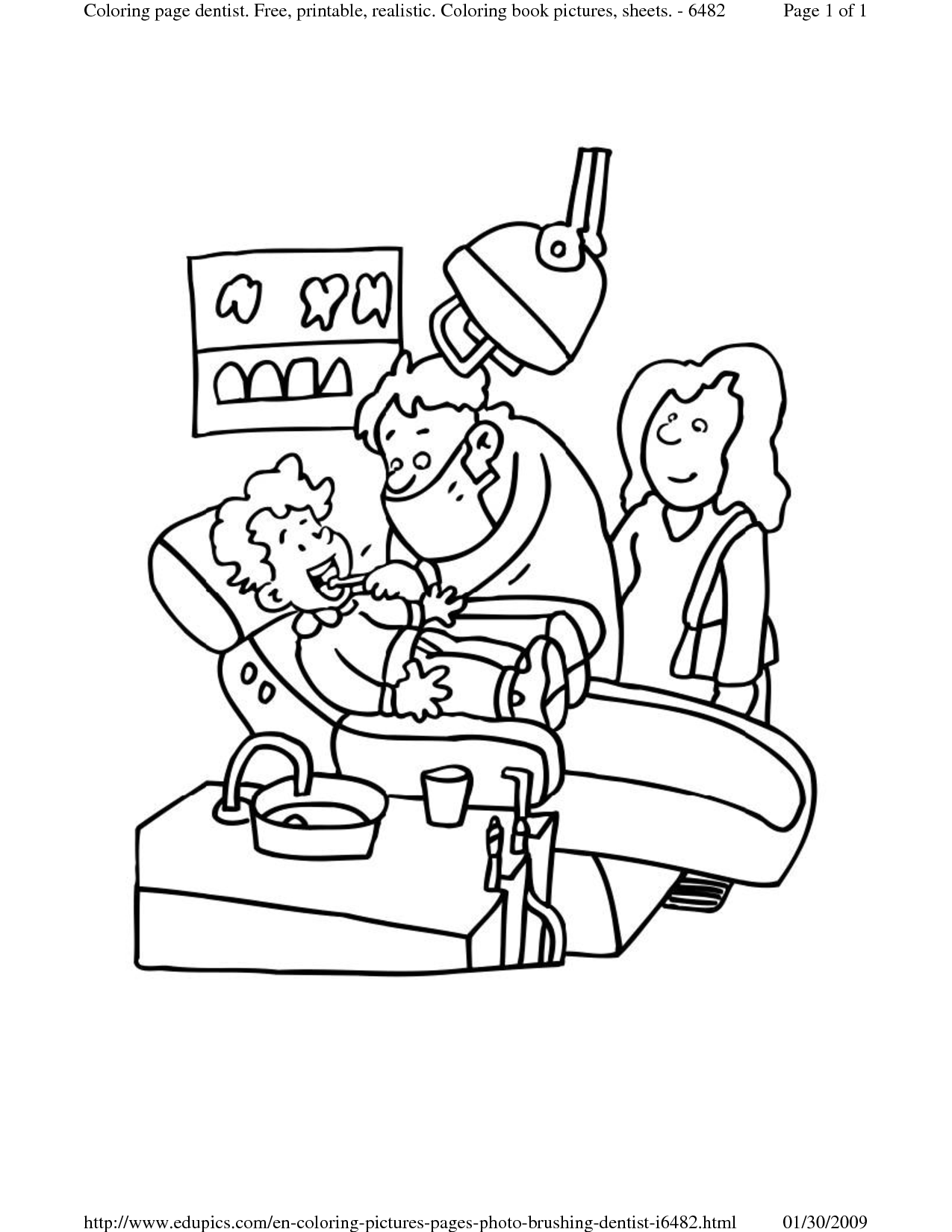 Dental Coloring Pages