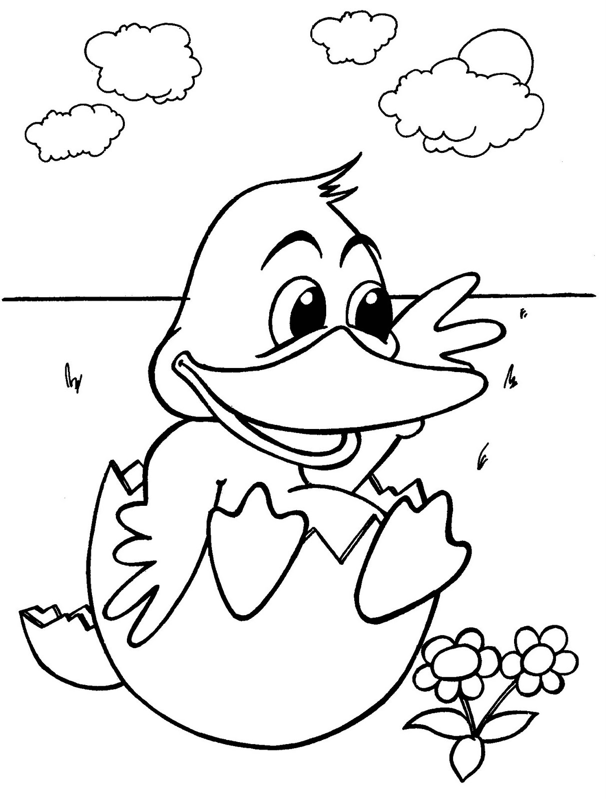 Baby Duck Coloring Pages Of Animals Free Printable
