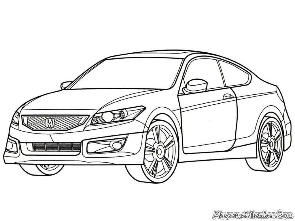 Honda Accord Sport Cars Coloring Pages Kids Coloring Pages Free