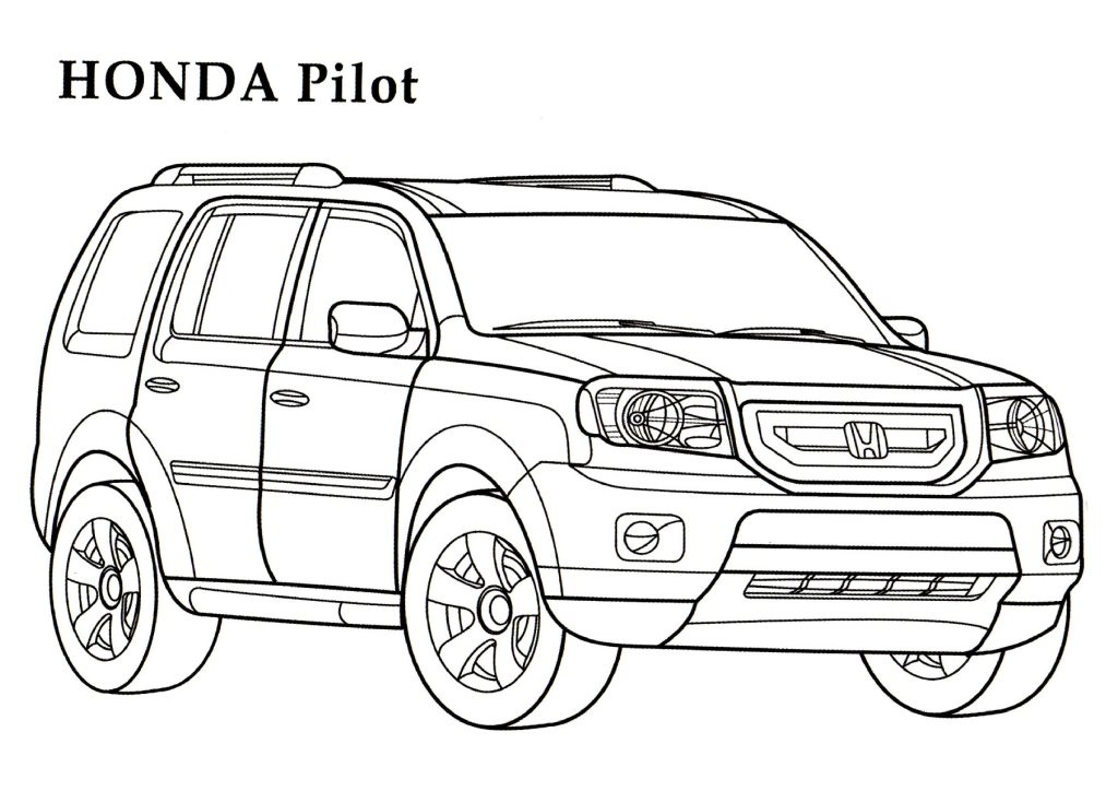 Honda Pilot CARS Coloring Pages Kids Coloring Pages Free