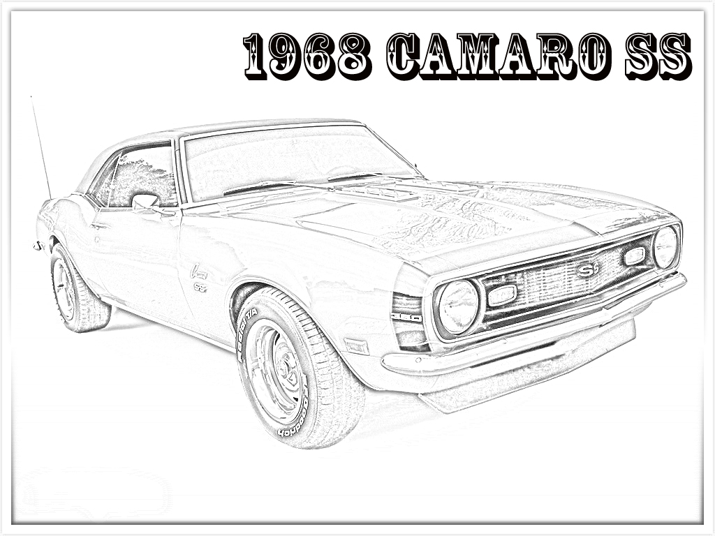 67 Camaro Coloring Pages