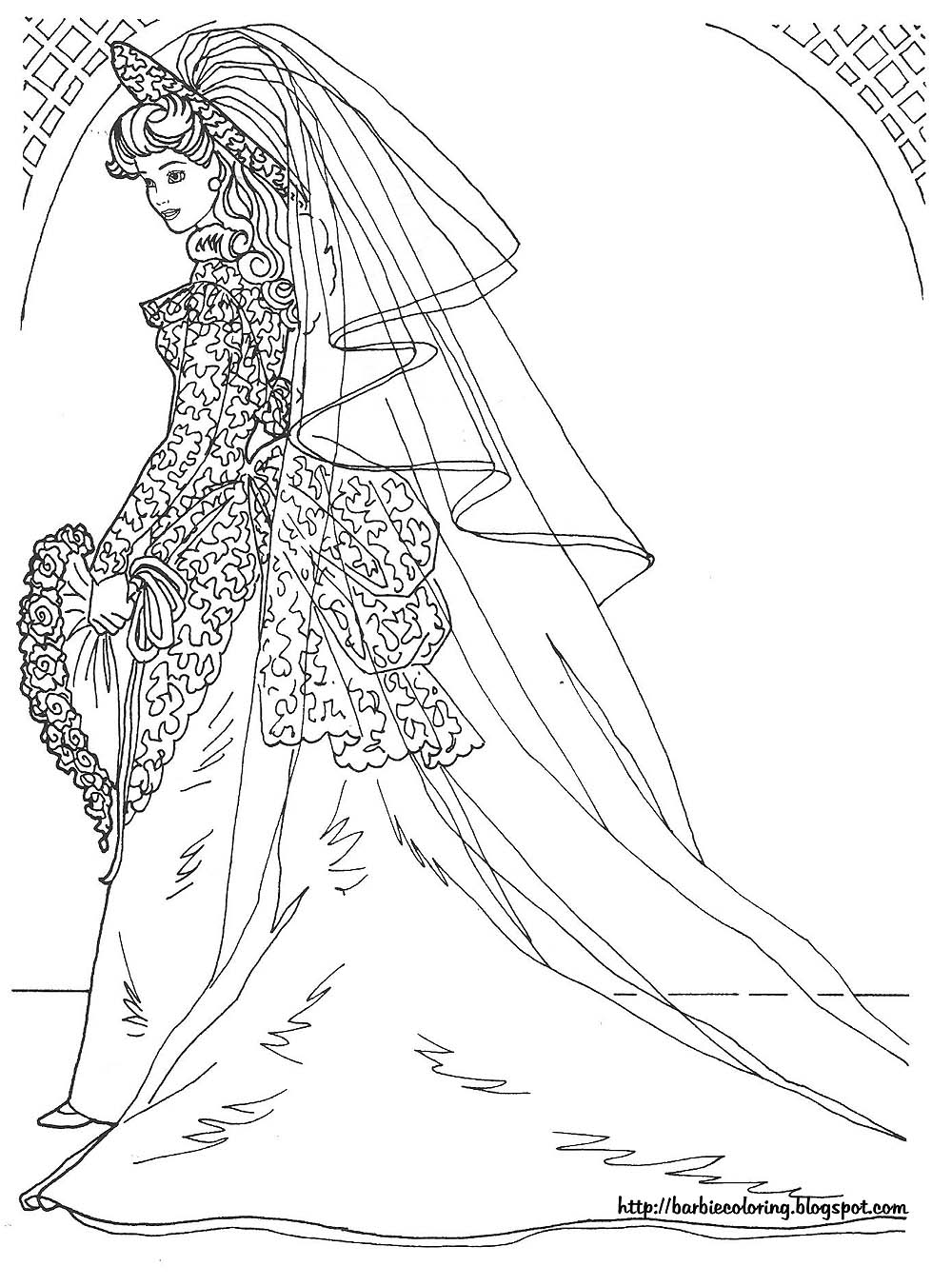 Marriage Coloring Pages Barbie Coloring Pictures