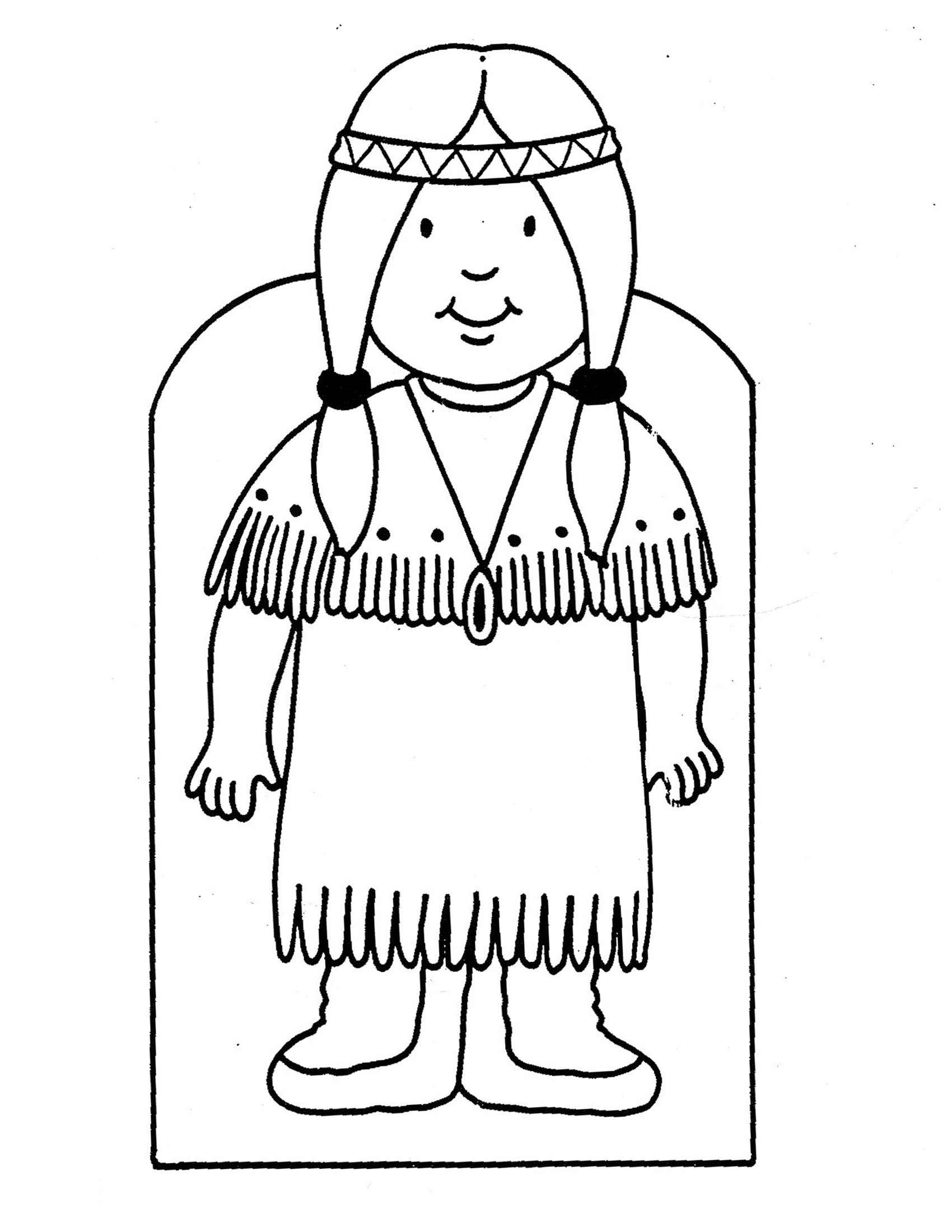 Coloring Pages Mother Indian Print Coloring Pages