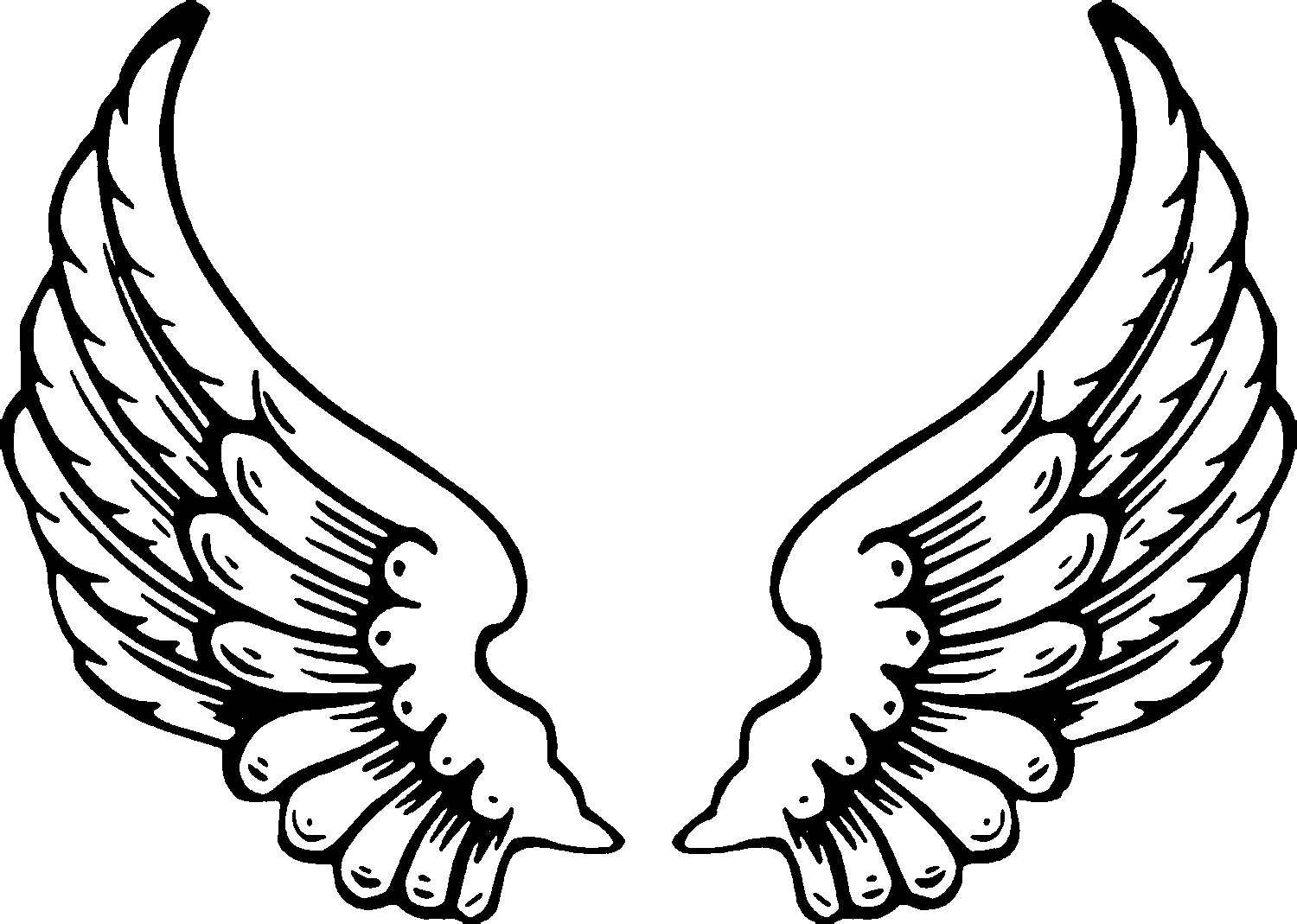 Coloring Pages Of Angels With Wings Coloring Page