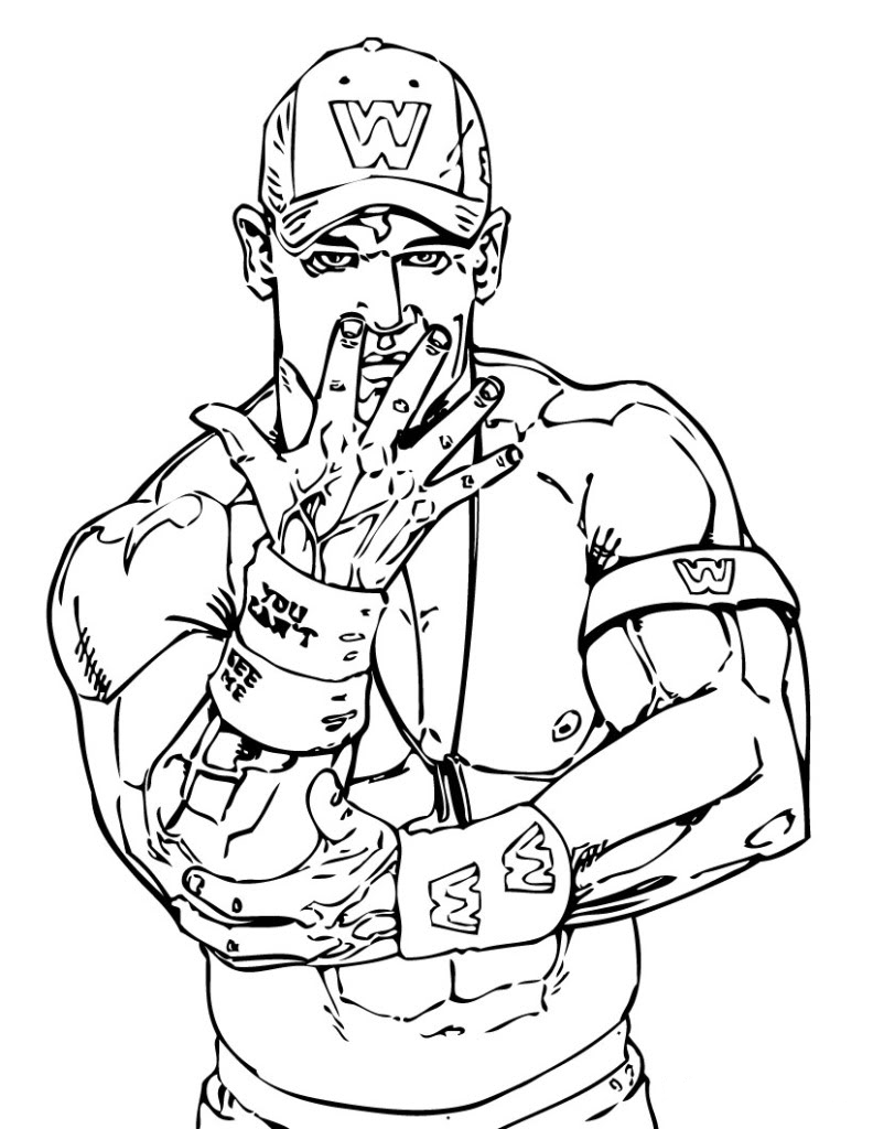Muscle Wwe Coloring Pages For Kids Free Printable Coloring Pages