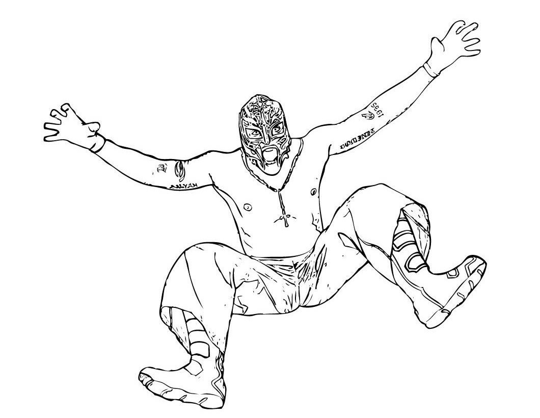 Wwe Crazy Wrestler Coloring Pages For Kids Free Printable Coloring
