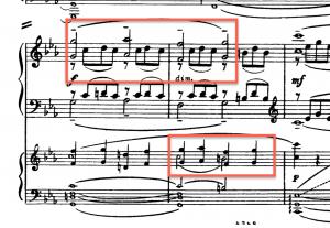 1st movement, recapitulation 2nd theme
