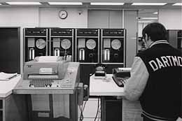 Ye Olde Computer.  GE-635 at Kiewit Computing Center, Dartmouth College, circa 1969.