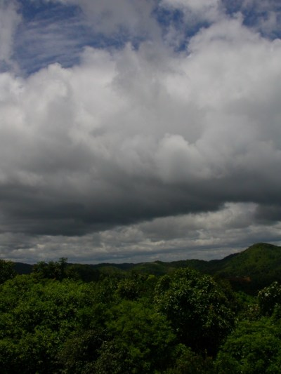 Monsoon clouds over Gurukula