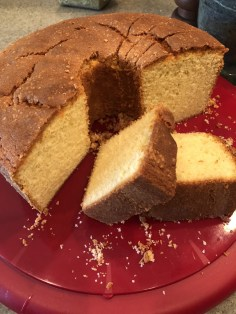 Martha Roy's scrumptious butter pound cake with fresh lemon curd