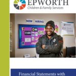 2016 Epworth Financial Audit Report cover page with young man in front of job opportunities board