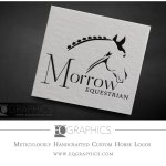 Jumping Horse Logo Design Custom Hunter Jumper Horse Farm Logos