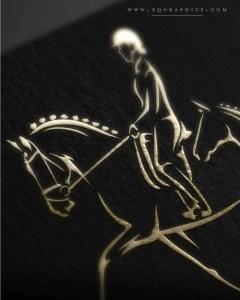 Elegance Captured in Print With Line Art Dressage Logo