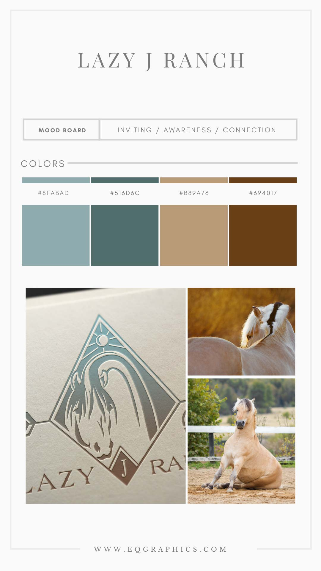 """Boho Color Palette Lends """"Wild"""" Look to Ranch's Norwegian Fjord Logo"""