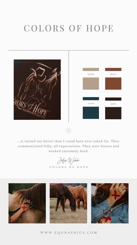 Copper Foil & Old West Style Font Delivers Western Branding to Equine Therapy Logo