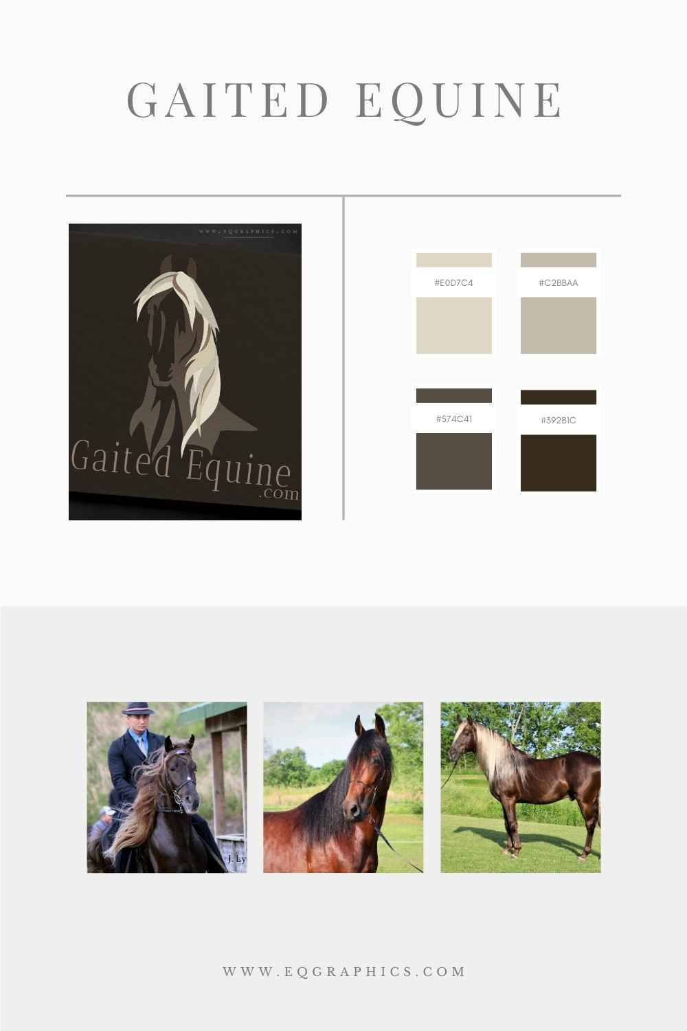 Neutral Color Palette & Chocolate Rocky Mountain Horse Logo Are the Perfect Pair