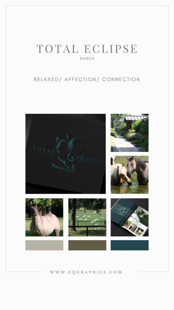 Soothing Horse Retirement Ranch Logo Design With Eclipse Details
